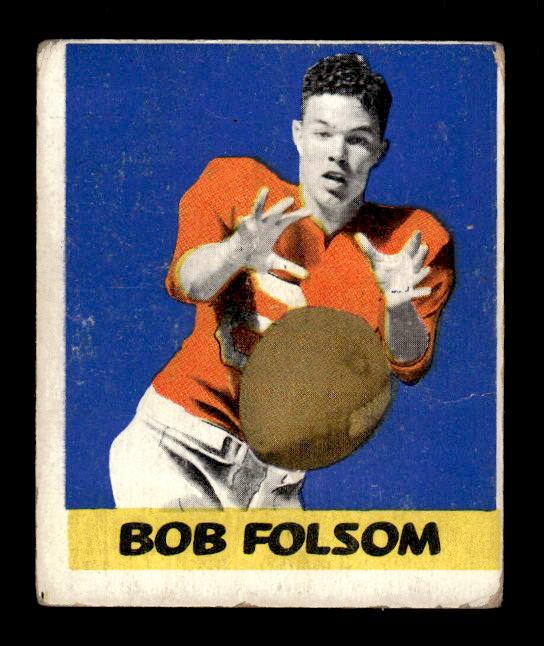 1948 Leaf #56A Bob Folsom BB RC/(Blue background)