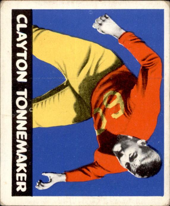 1948 Leaf #76A Clayton Tonnemaker BYP RC/(bright yellow pants)