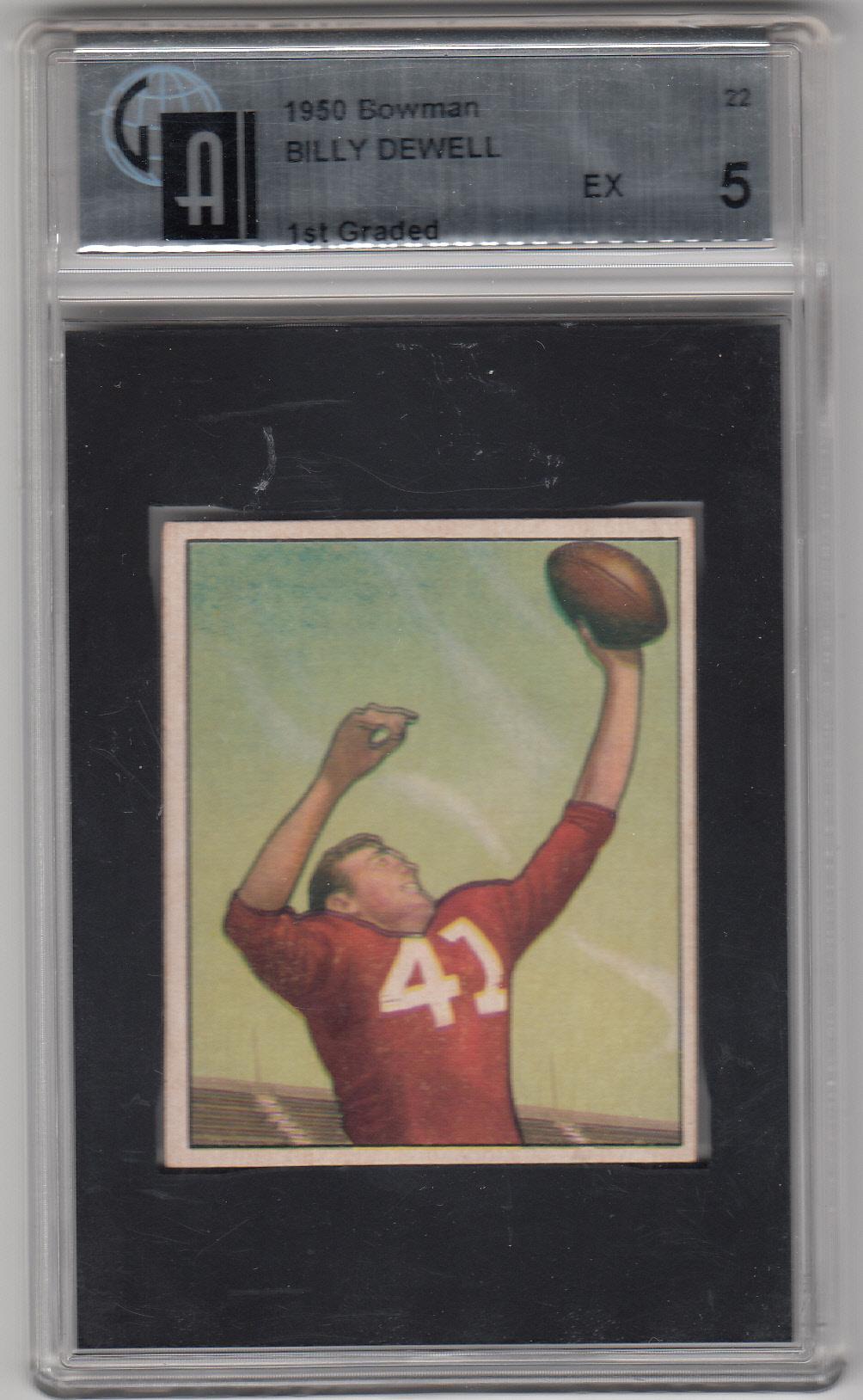 1950 Bowman #22 Billy Dewell