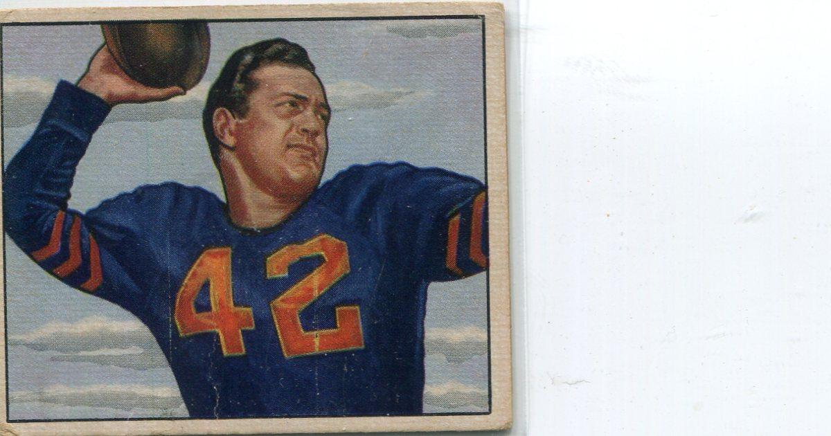 1950 Bowman #27 Sid Luckman