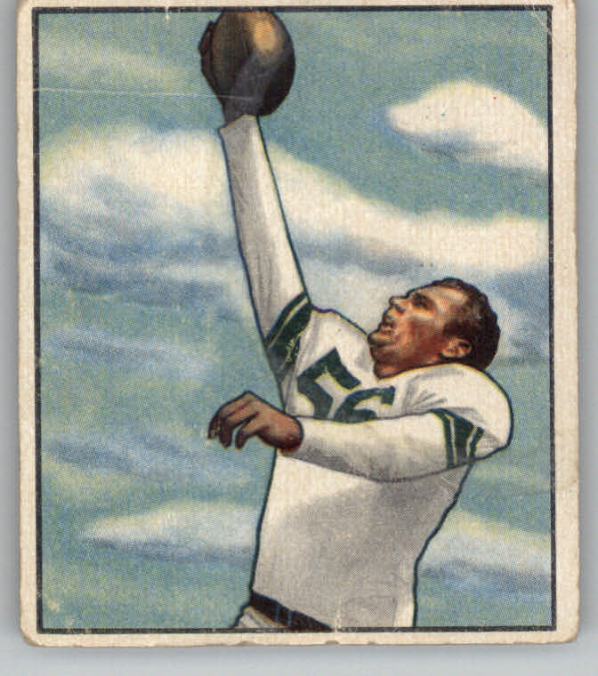 1950 Bowman #76 Bill Leonard RC