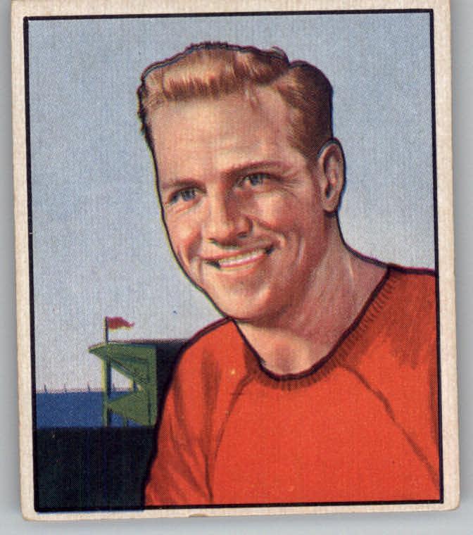 1950 Bowman #106 Ed Carr RC
