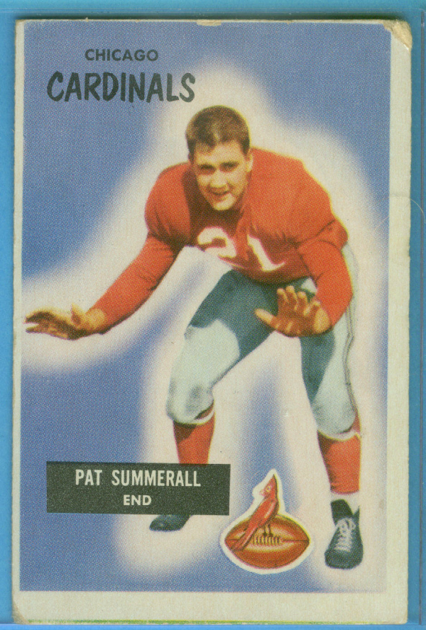 1955 Bowman #52 Pat Summerall RC