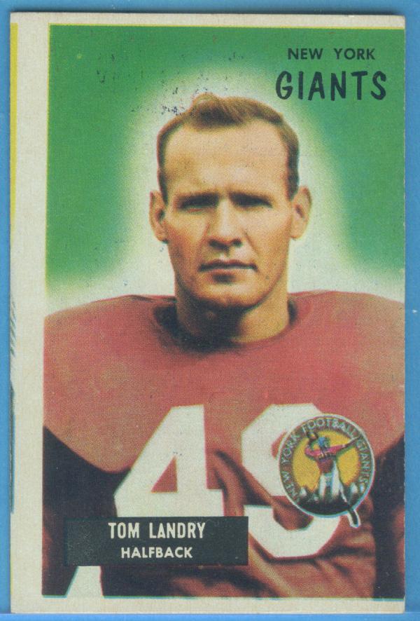 1955 Bowman #152 Tom Landry
