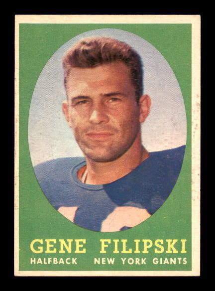 1958 Topps #1 Gene Filipski RC