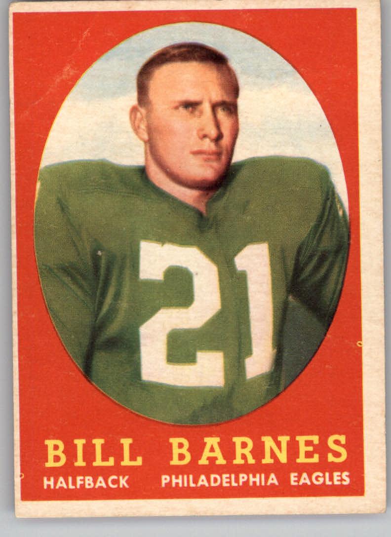 1958 Topps #4 Bill Barnes RC