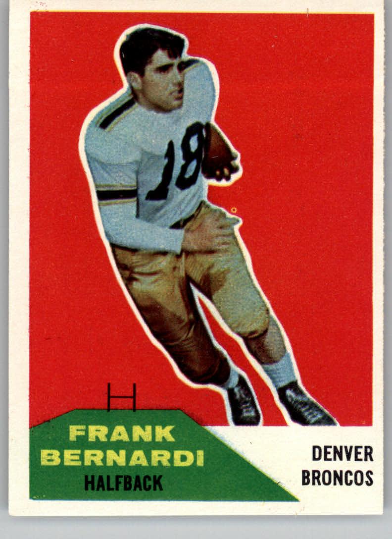 1960 Fleer #54 Frank Bernardi RC