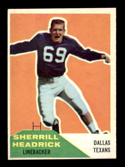1960 Fleer #59 Sherrill Headrick RC