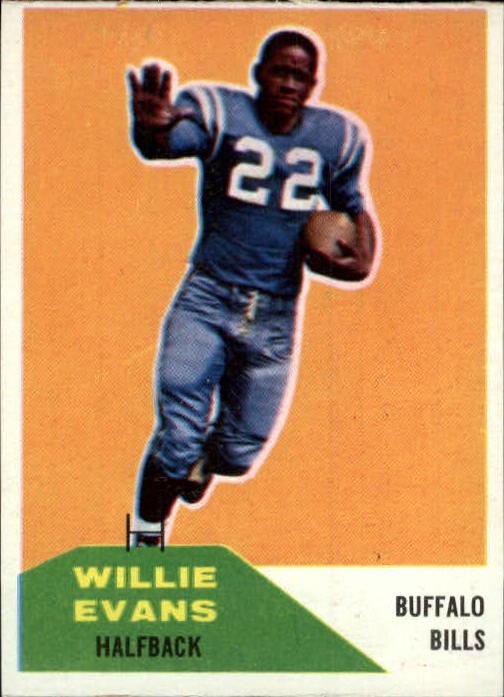 1960 Fleer #65 Willie Evans RC