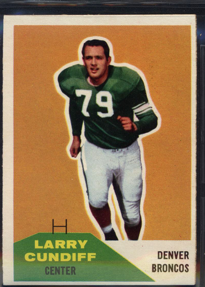 1960 Fleer #95 Larry Cundiff RC