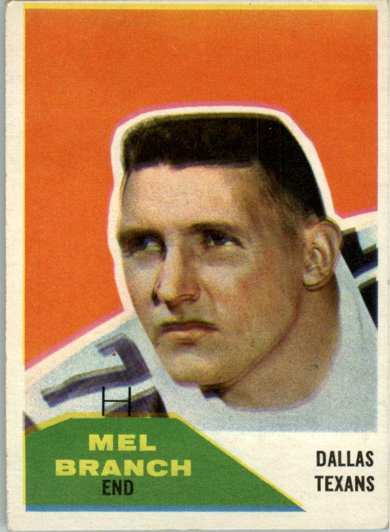 1960 Fleer #100 Mel Branch RC