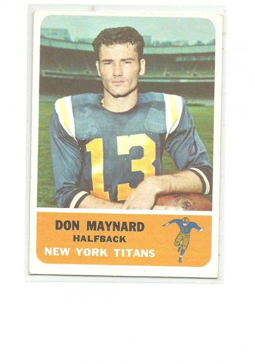 1962 Fleer #59 Don Maynard