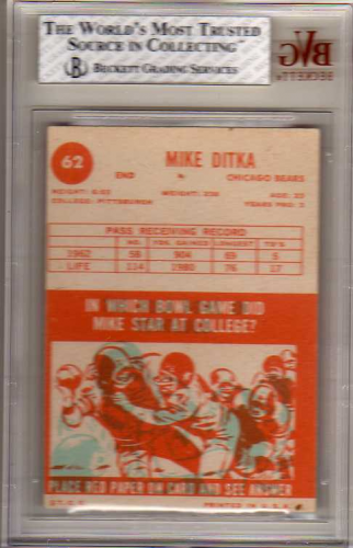 1963 Topps #62 Mike Ditka back image