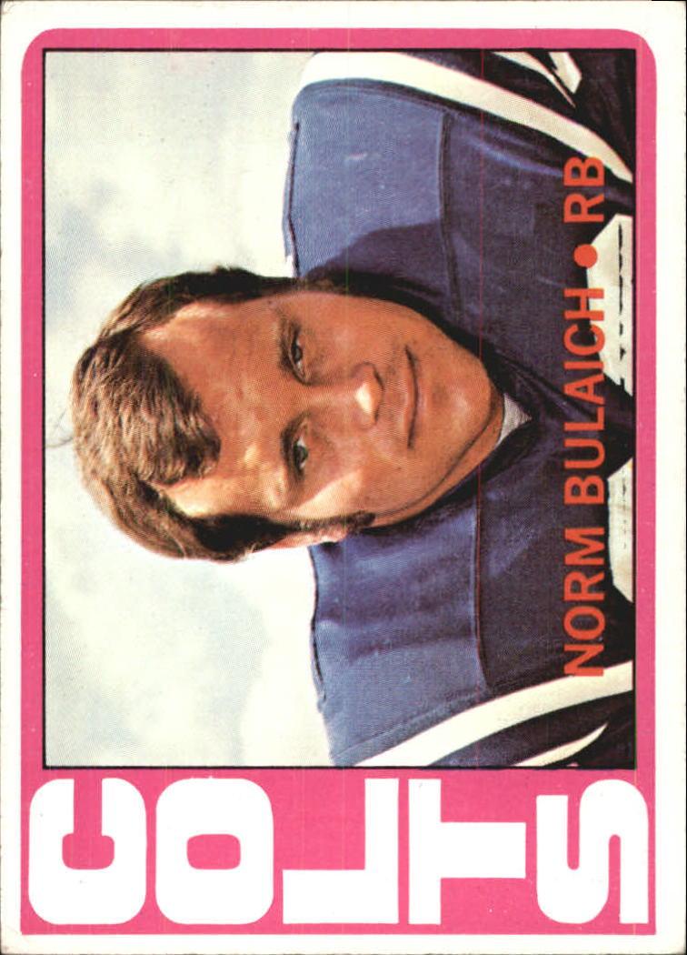 1972 Topps #232 Norm Bulaich RC