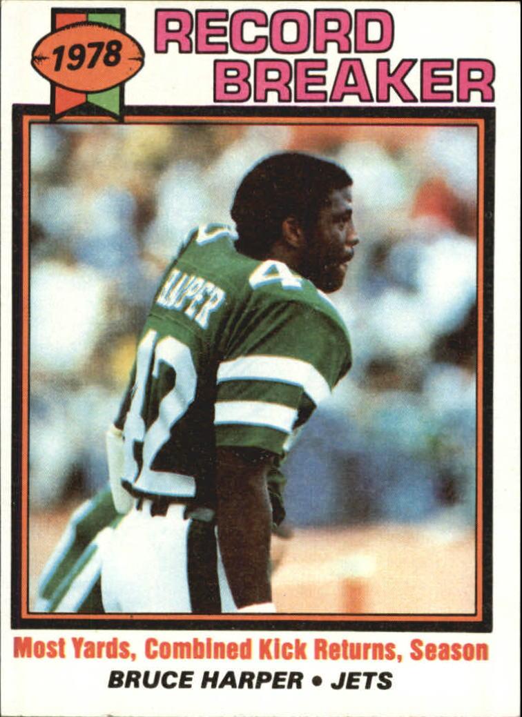 1979 Topps #333 Bruce Harper RB/Most Combined Kick/Return Yards& Season