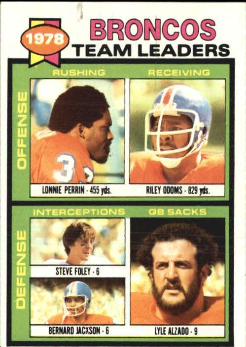 1979 Topps #507 Denver Broncos TL/Lonnie Perrin/Riley Odoms/Steve Foley/Bernard Jackson/Lyle Alzado/(checklist back)