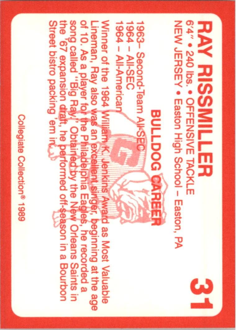 1989-Georgia-200-Football-Card-Pick thumbnail 23