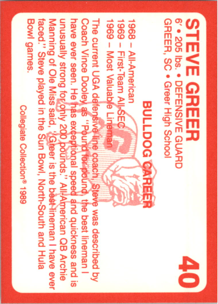 1989-Georgia-200-Football-Card-Pick thumbnail 35