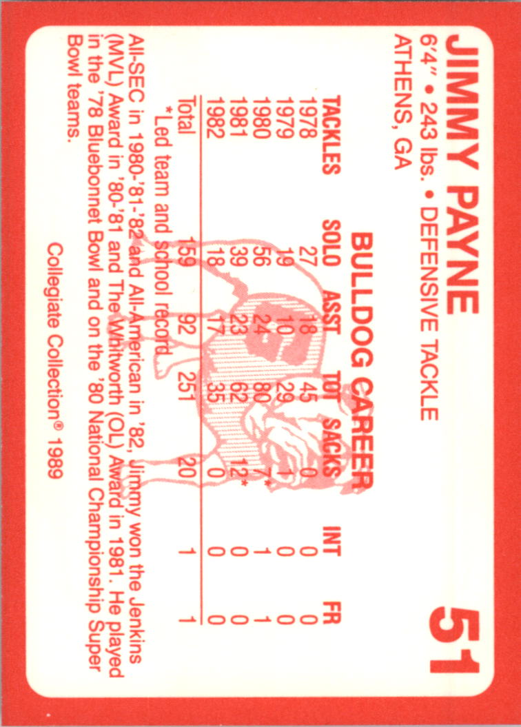 1989-Georgia-200-Football-Card-Pick thumbnail 47