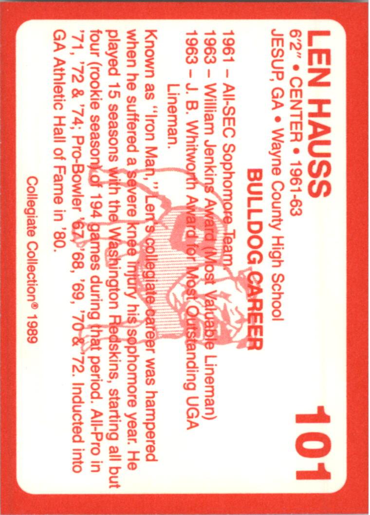 1989-Georgia-200-Football-Card-Pick thumbnail 101