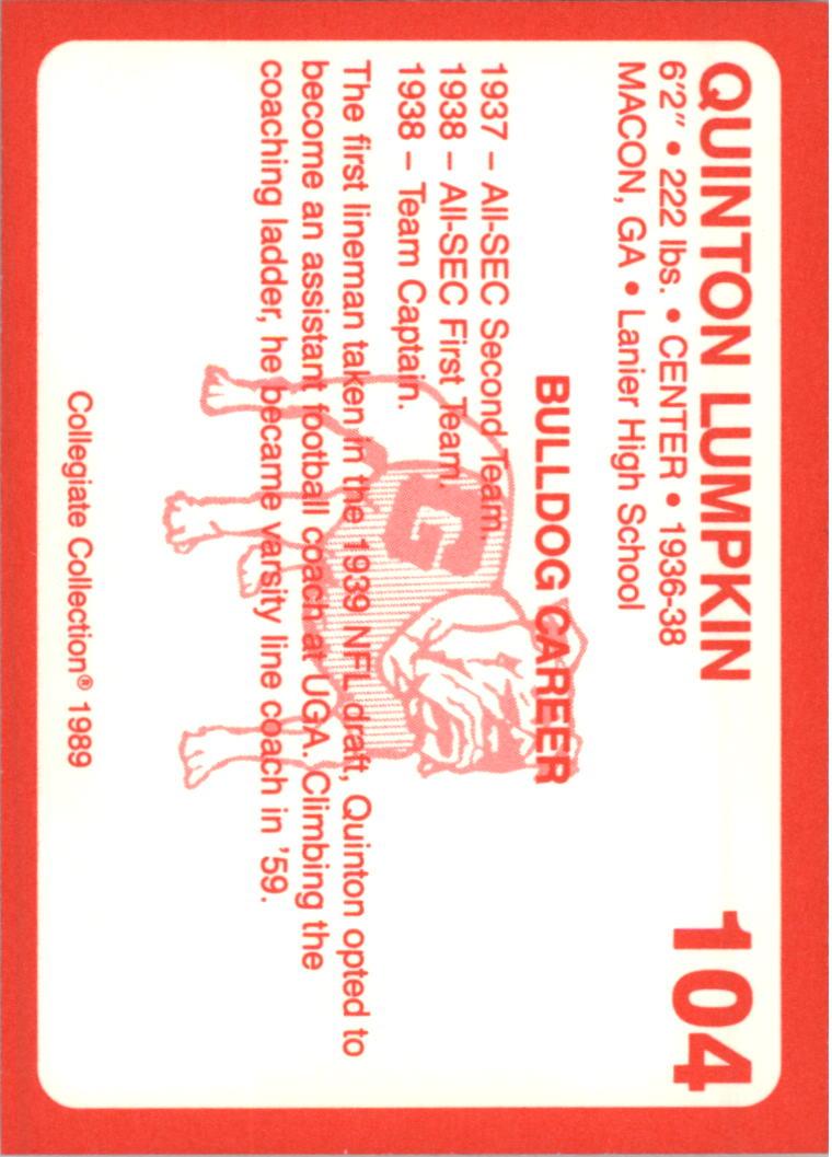 1989-Georgia-200-Football-Card-Pick thumbnail 107