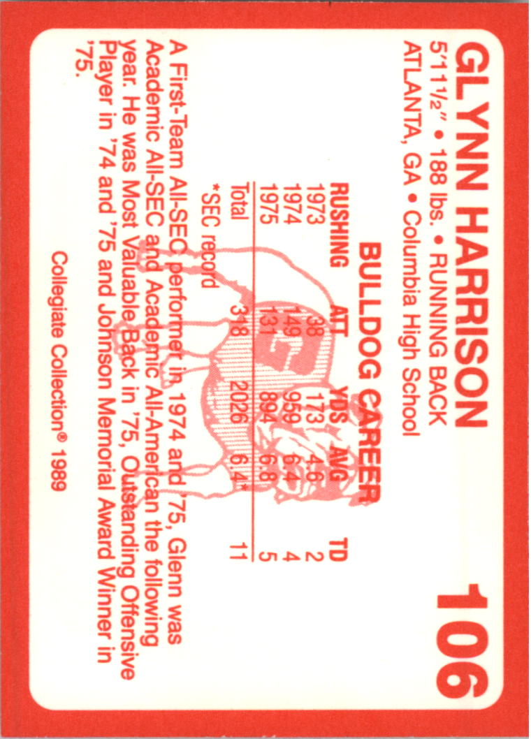 1989-Georgia-200-Football-Card-Pick thumbnail 109
