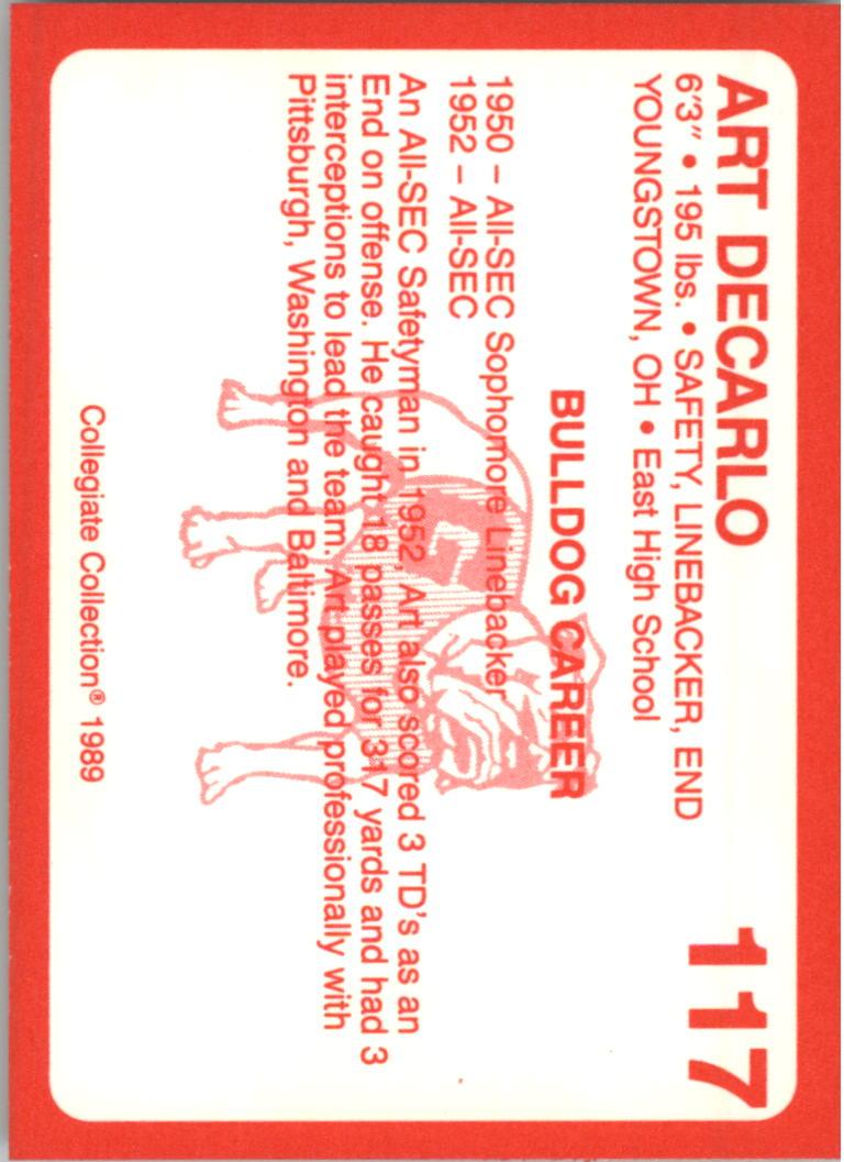 1989-Georgia-200-Football-Card-Pick thumbnail 119