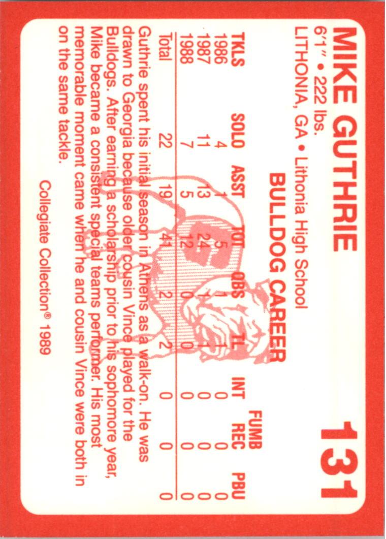 1989-Georgia-200-Football-Card-Pick thumbnail 143