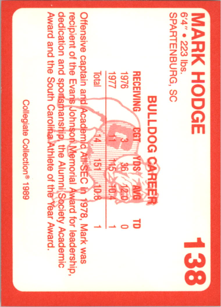 1989-Georgia-200-Football-Card-Pick thumbnail 155