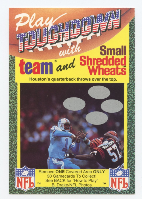 1989 Touchdown UK #16 Warren Moon/Reggie Williams
