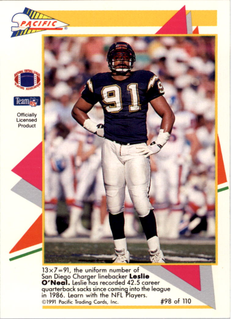 1991 Pacific Flash Cards #98 Leslie O'Neal