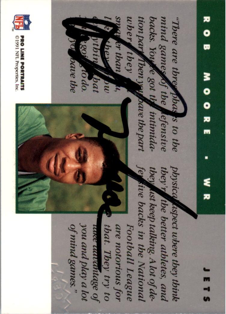 1991 Pro Line Portraits Autographs #175 Rob Moore