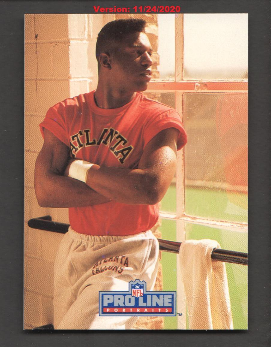 1991 Pro Line Portraits Autographs #204 Mike Pritchard