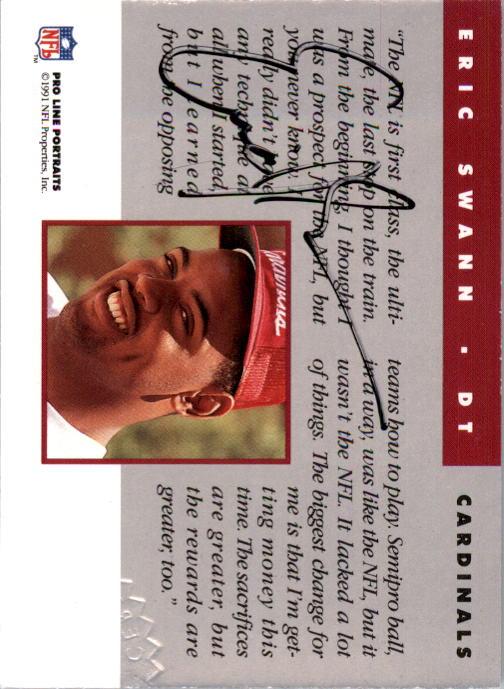1991 Pro Line Portraits Autographs #252 Eric Swann back image