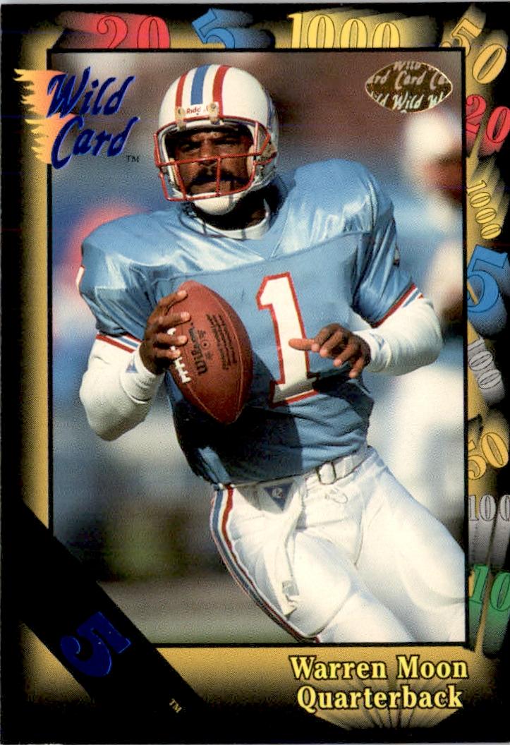 1991 Topps #8 Warren Moon Jim Everett Football Card