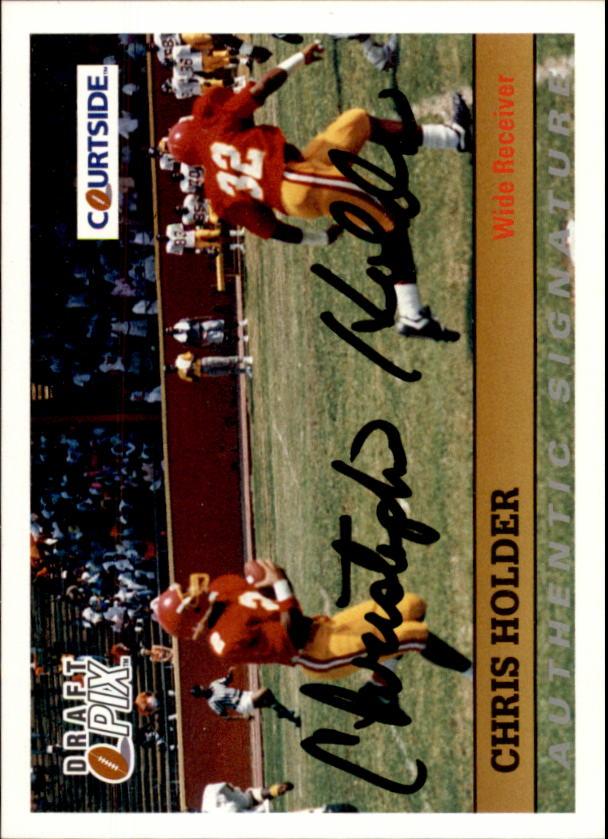 1992 Courtside Autographs #16 Chris Holder