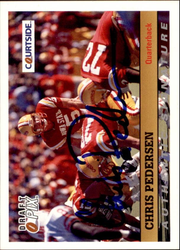 1992 Courtside Autographs #18 Chris Pedersen