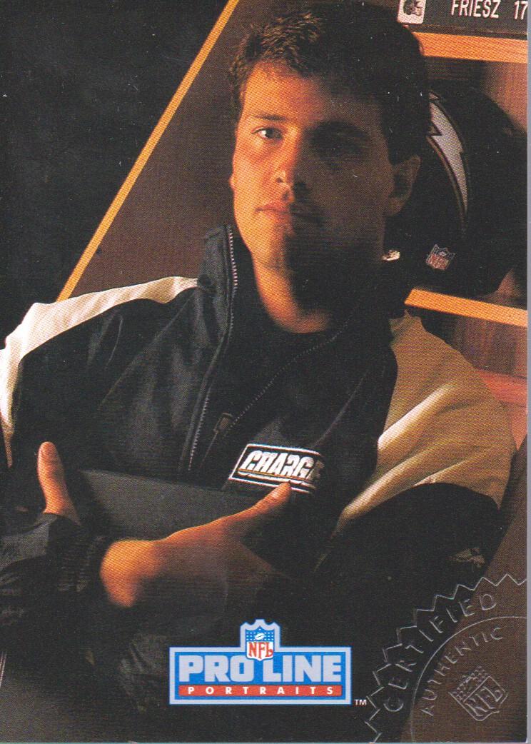 1992 Pro Line Portraits Autographs #50 John Friesz back image
