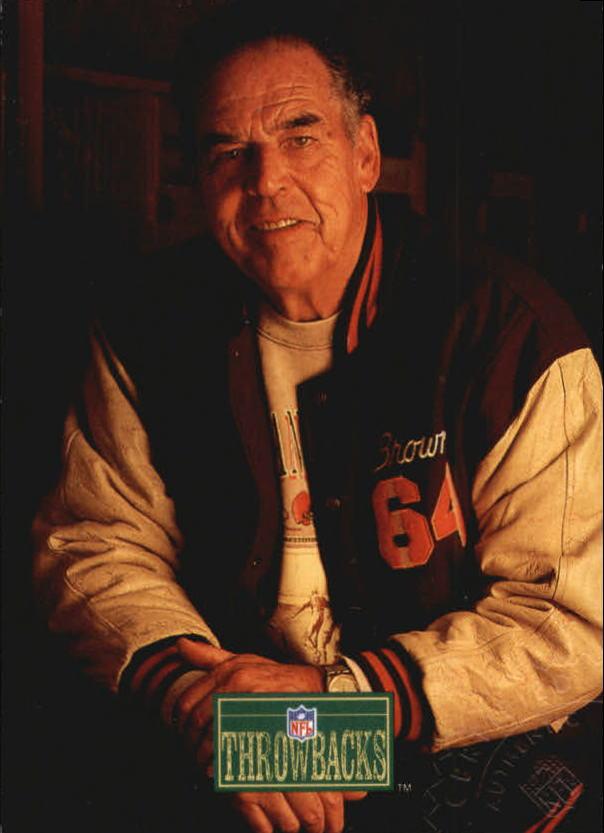 1992 Pro Line Portraits Autographs #55 Otto Graham RET back image