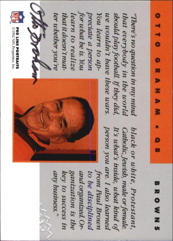 1992 Pro Line Portraits Autographs #55 Otto Graham RET