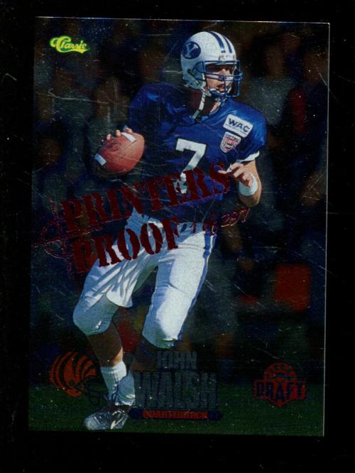 1995 Classic NFL Rookies Printer's Proofs Silver #76 John Walsh