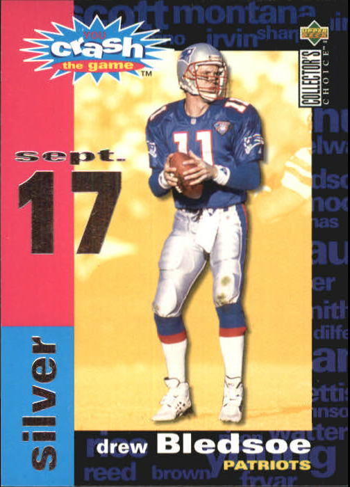 1995 Collector s Choice Crash The Game  C9B Drew Bledsoe ... 45490ca76