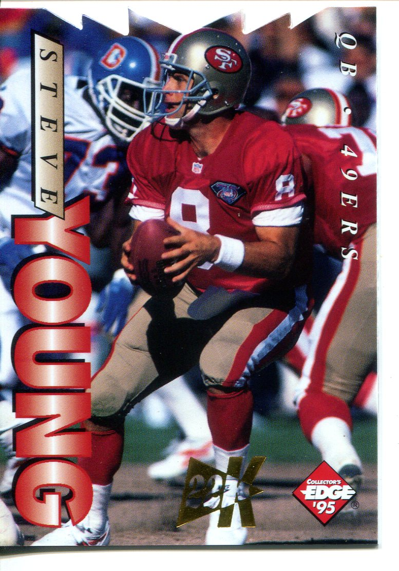 1995 Collector's Edge 22K Gold Die Cuts #181 Steve Young