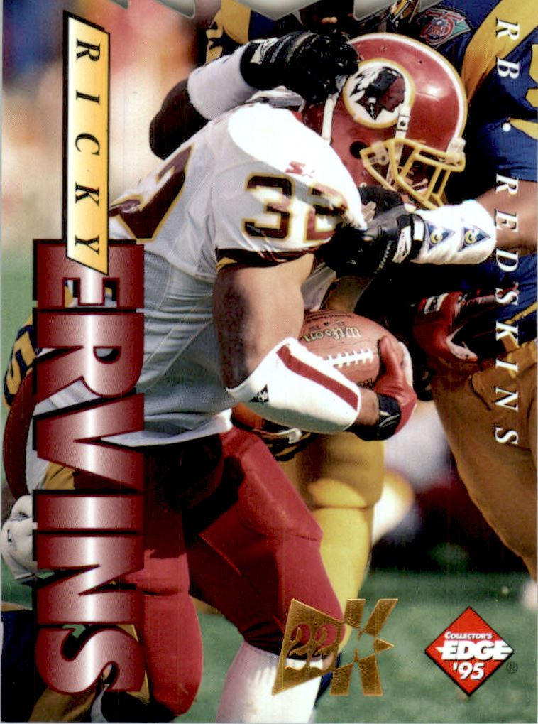 1995 Collector's Edge 22K Gold Die Cuts #197 Ricky Ervins