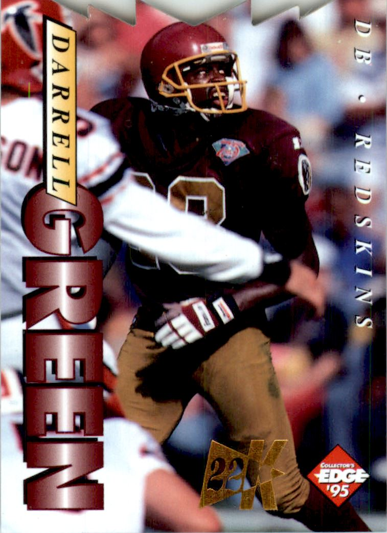 1995 Collector's Edge 22K Gold Die Cuts #198 Darrell Green