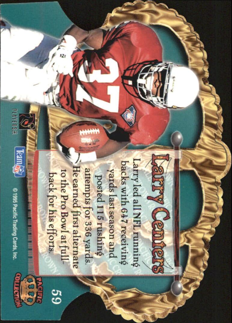 1995 Crown Royale Copper #59 Larry Centers back image