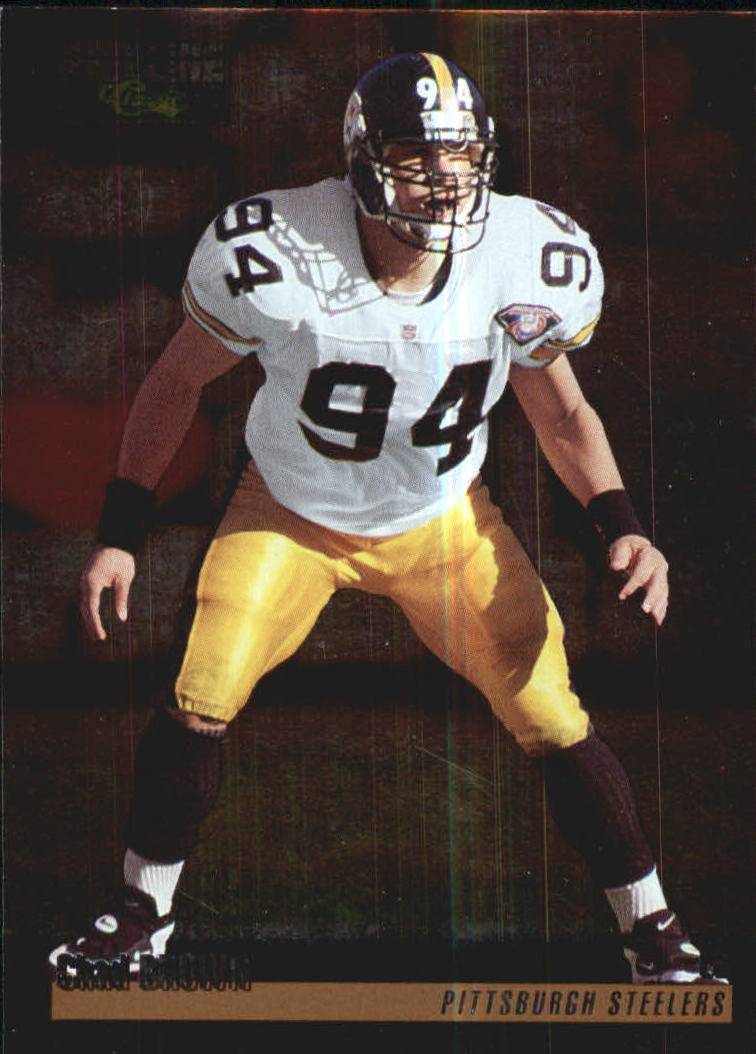 1995 pro line silver pittsburgh steelers football card