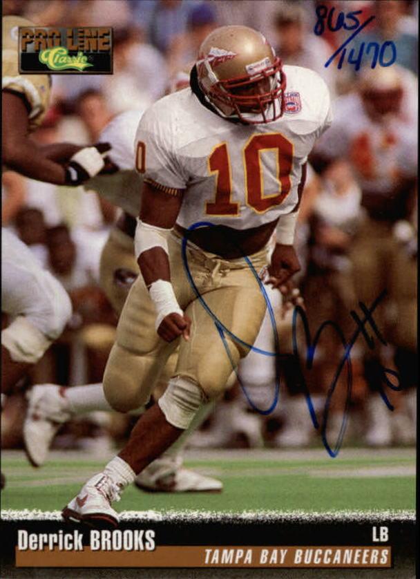 1995 Pro Line Autographs #16 Derrick Brooks/1470