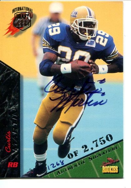 1995 Signature Rookies Autographs International #49 Curtis Martin