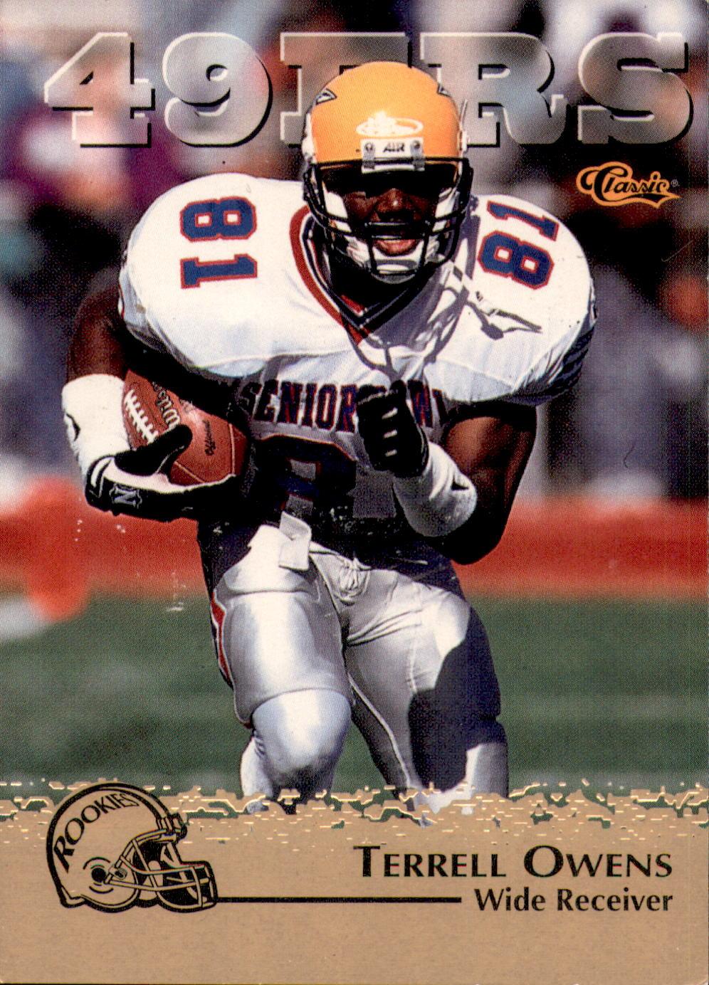 1996 Classic NFL Rookies Gold  94 Terrell Owens b301110ad